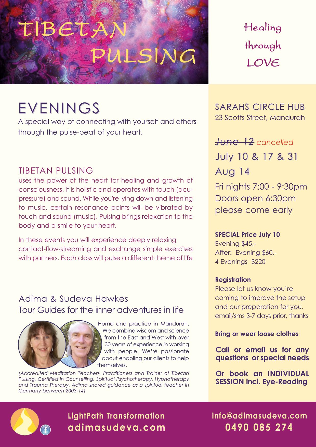 TibetanPulsing Evenings June-Aug